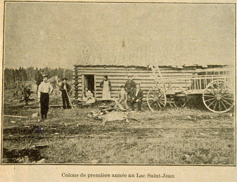 La vallée du lac Saint-Jean colons de première année au Lac Saint-Jean, Album universel, Vol. 22, no 1110 (29 juillet 1905), p. 394